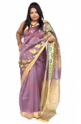 Gulmohaar Embriodered Bollywood Silk Sari