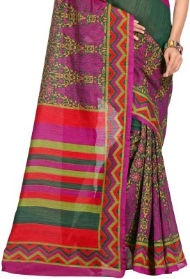 PS Enterprise Printed Daily Wear Handloom Silk Sari