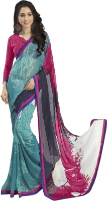 Myntas DXL Graphic Print Daily Wear Georgette Sari