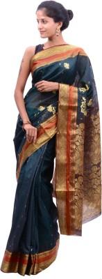 Alamin Self Design Fashion Cotton Sari