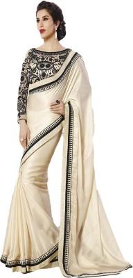 ARsalesIND Embriodered Fashion Satin, Georgette Sari