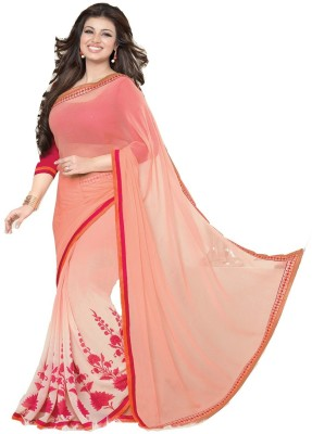 Pinkpassion Self Design Bollywood Georgette Sari