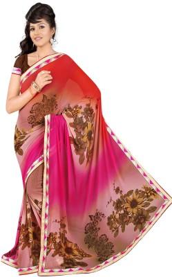 Janya Self Design Meghalaya Georgette Sari