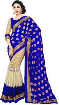 PRN Self Design Bollywood Georgette Sari