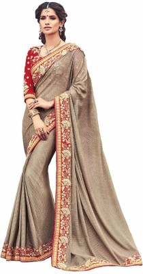 Royal Desi Apparel Embriodered Bollywood Satin Sari
