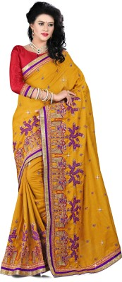 chhabra xclusive Embriodered Fashion Silk Sari