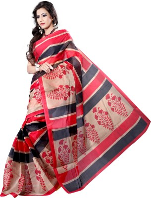 Vastrakala Printed Mangalagiri Polycotton Sari