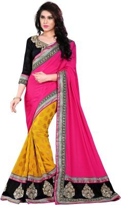The Core Fashion Embriodered Fashion Handloom Viscose Sari