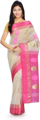 Rudrakshhh Embriodered Garad Handloom Silk Sari