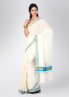 Ennthra Solid Daily Wear Cotton Sari