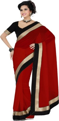Laxmi Sarees Self Design Bollywood Chiffon Sari