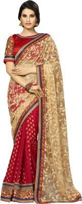 Kvsfab Embriodered Fashion Viscose, Jacquard Sari