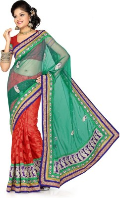 Firstloot Self Design Fashion Handloom Net Sari