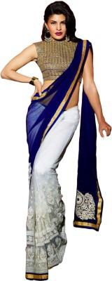 Fstore Embriodered Bollywood Net Sari