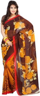 Suali Self Design Fashion Synthetic Georgette Saree(Multicolor) at flipkart
