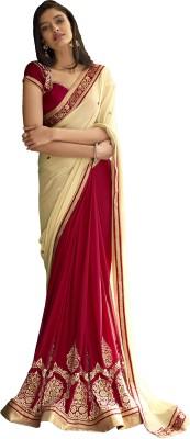 Ekjhalak Embriodered Fashion Chiffon Sari