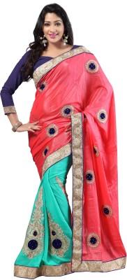 Jay Ambe Self Design Fashion Pure Georgette Sari