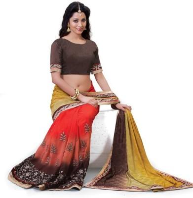 Mahadevi Embellished, Embriodered Bollywood Art Silk Sari