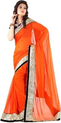 Lime Fashion Embellished Fashion Handloom Chiffon Sari