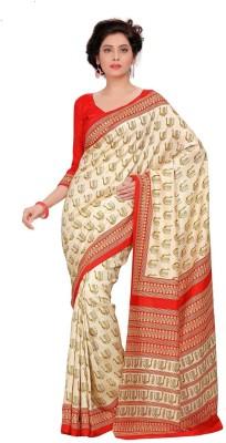 Muta Fashions Printed Banarasi Tussar Silk Sari