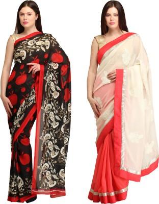 Skyline Trading Self Design Daily Wear Georgette, Chiffon Sari