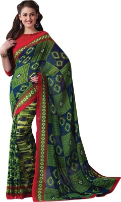 Vachi Geometric Print Daily Wear Georgette Sari