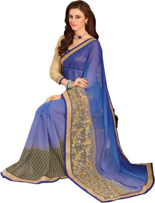 Kalista Fashions Self Design Bollywood Georgette Sari