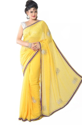 Aarti Saree Embriodered Fashion Chiffon Sari