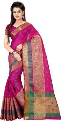 Fashionesta Self Design Fashion Silk Saree(Pink) at flipkart