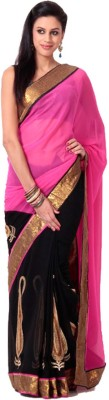 Abretail Self Design Fashion Georgette Sari