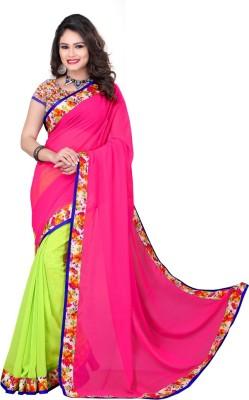 Kuki Fashion Plain Daily Wear Georgette Sari