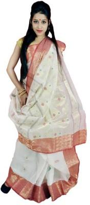 MCLS FASHION Woven Tangail Handloom Cotton Sari