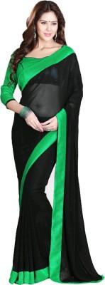 nupur fashion Plain Bollywood Chiffon Sari