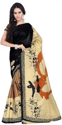 Desi Look Printed Bollywood Art Silk Sari