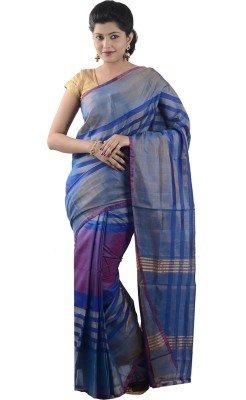 Uppada Silks Striped Fashion Silk Sari