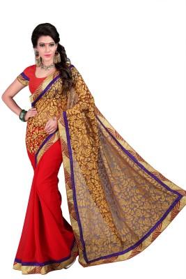 Jagdamba Creation Woven Fashion Brasso Sari