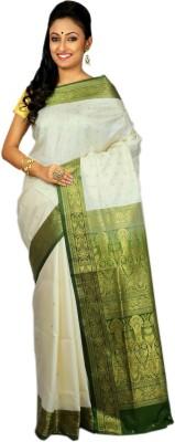 Womilo Self Design Banarasi Silk Sari