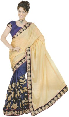 New Age Diva Solid Bollywood Georgette Sari
