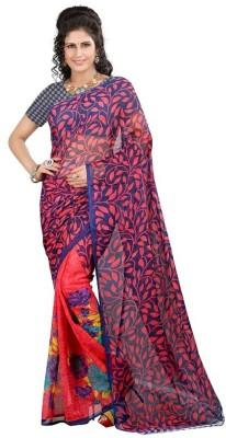 PINK SISLY Printed Daily Wear Georgette Sari
