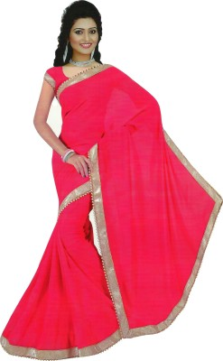 Essemm Solid Bollywood Georgette Sari