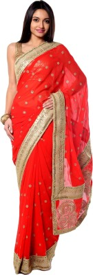 RCPC Embriodered Bollywood Georgette Sari