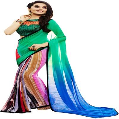 Araadhya Creations Printed Fashion Georgette Sari