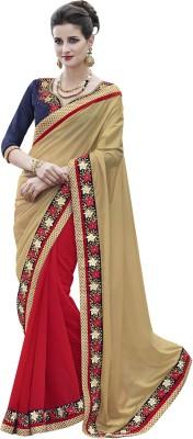 Sparsh Plain Fashion Georgette Sari