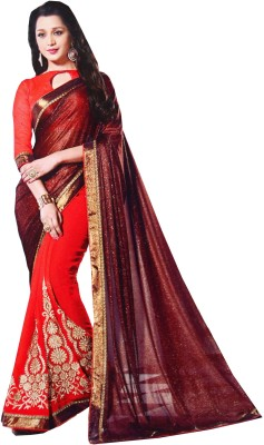 Awadh Embriodered Fashion Georgette Sari