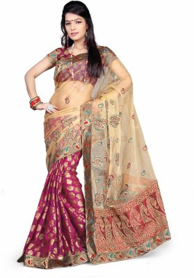 Royal Desi Apparel Embriodered Fashion Net Sari