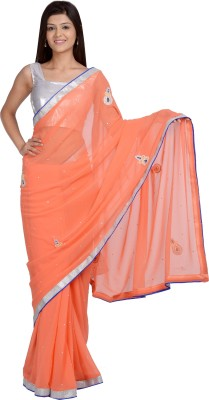 GetTogetherCreation Embriodered Fashion Synthetic Sari