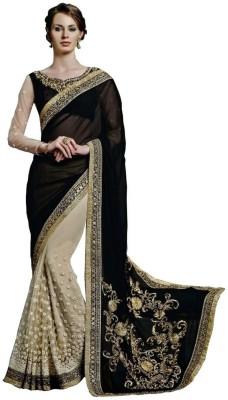Panchi Embellished Bollywood Net, Georgette Sari