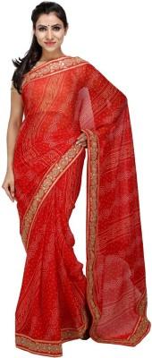 KALYANAM Self Design Bandhej Crepe Sari