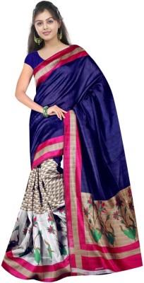 Geeta Sarees Printed Bhagalpuri Silk Sari