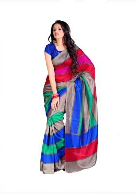 Swaranjali Striped Fashion Art Silk Sari